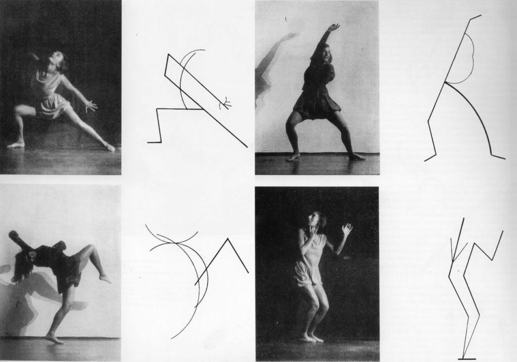 Wassily Kandinsky, Dance Curves, 1926. Photo Charlotte Rudolph, danseuse Gret Palucca