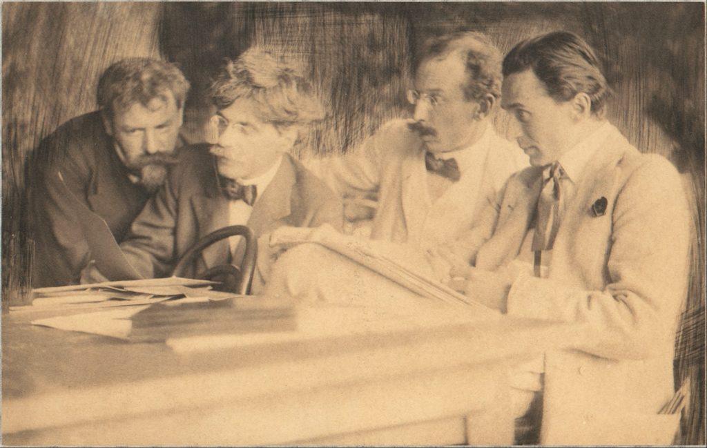Frank Eugene, Alfred Stieglitz, Edward Steichen et Heinrich Kühn en 1907