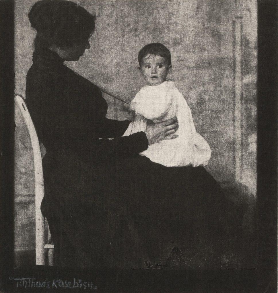 Mademoiselle Ward et bébé, Gertrude Käsebier sur Julien et le champ des possibles, julien robert photographe